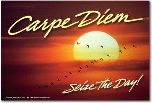 "Every time I see ""seize the day,"" all I think about is crossing out the word ""the"" and replacing it with the word ""all."""