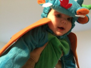 My drooly dragon on Halloween.